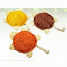 50PCS Hateli Loofah Turtle Pet Dog Toy Natural Environmental Protection Improve Tone Tartar Tooth Care Toy