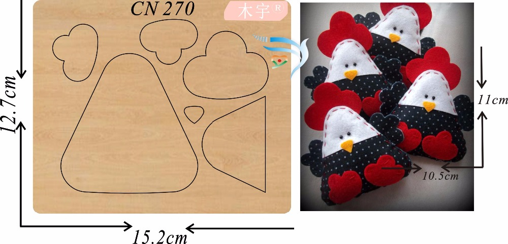 Cute chick new wooden mould cutting dies for scrapbooking Thickness 15 8mm