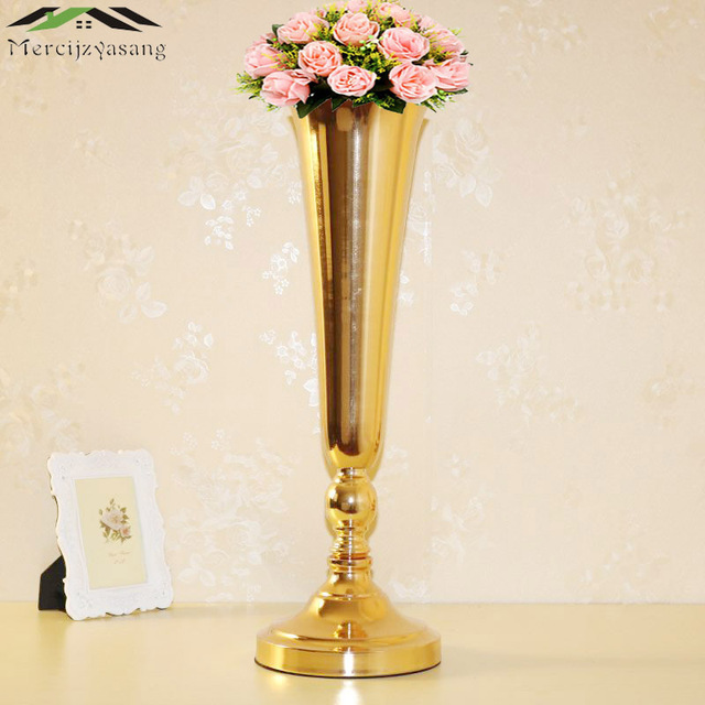 10pcslot Floor Vase Metal Flower Vase Table Centerpiece For Mariage