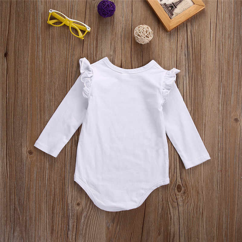 Xmas White Long Sleeve Baby Girl Bodysuit Jumpsuit Newborn Infant Children Kid Autumn New Born Wear Baby Body Girl Clothes