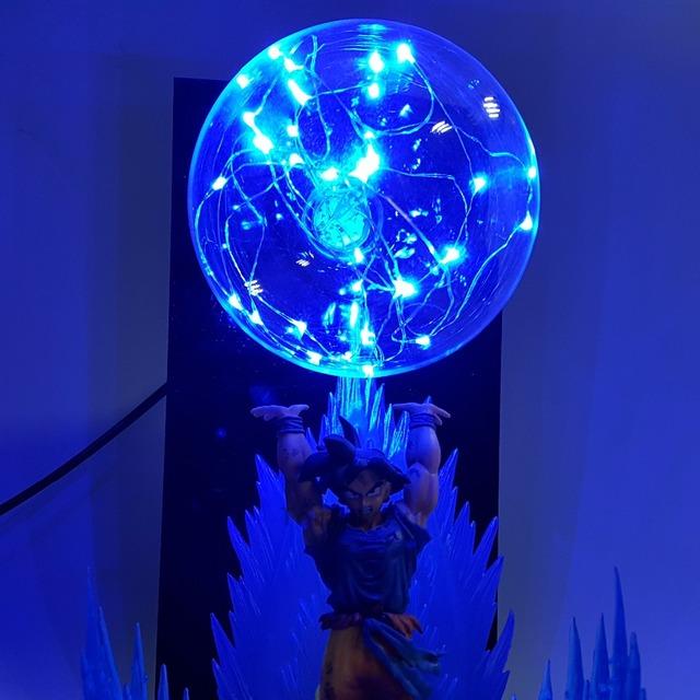 Dragon Ball Z Son Goku Spirit Bomb Led Light Effect Super Saiyan Action Figure Anime Dragon Ball Z Led Bulb Model Toy DBZ
