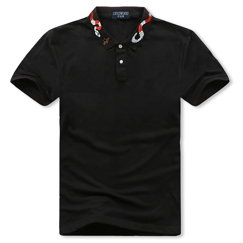 Plus Size 5XL 6XL 7XL 8XL Bust 155cm Brand   Polo   men Cotton Short Embroidery   polo   shirt Big Size XXL XXXL 4XL