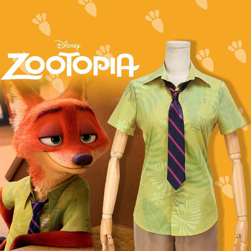 Children Cos ZOOTOPIA Nick Wilde Cosplay Costume Fox Cos ZOOTOPIA Nick  Cosplay Clothing Green Customize 1160b76466a9