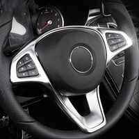 Car Steering Wheel Button Frame Dcoration Sticker Trim For Mercedes Benz C E W205 W213 GLC X253 Class Interior Accessories
