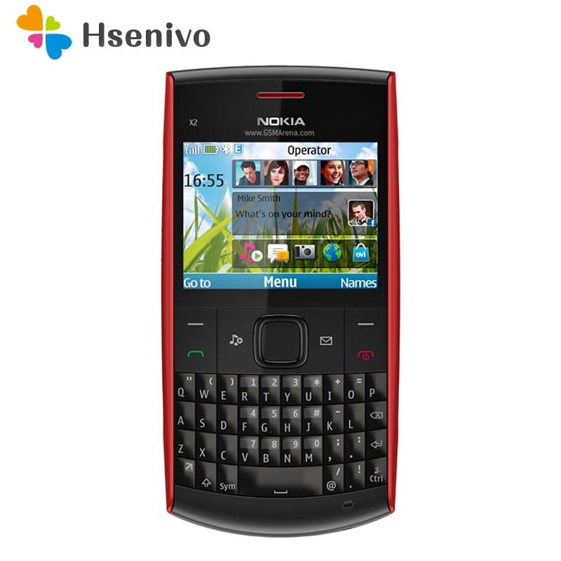 Фото. 100% оригинальный телефон Nokia X2-01 Symbian OS X2-01 компьютерная клавиатура мобильный телефон мод