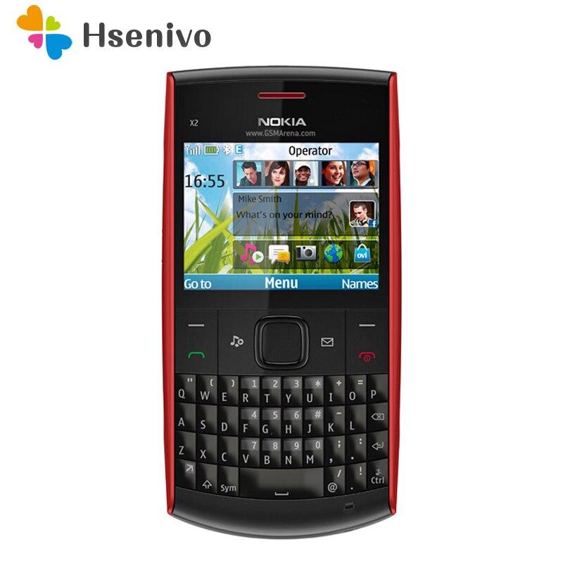 100% telefone original nokia X2-01 symbian os X2-01 teclado do computador telefones celulares moda celular remodelado