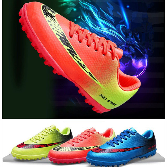 children soccer shoes male sports shoes kids football boys lawn sneakers shoes Lace-up children's outdoor game training shoes