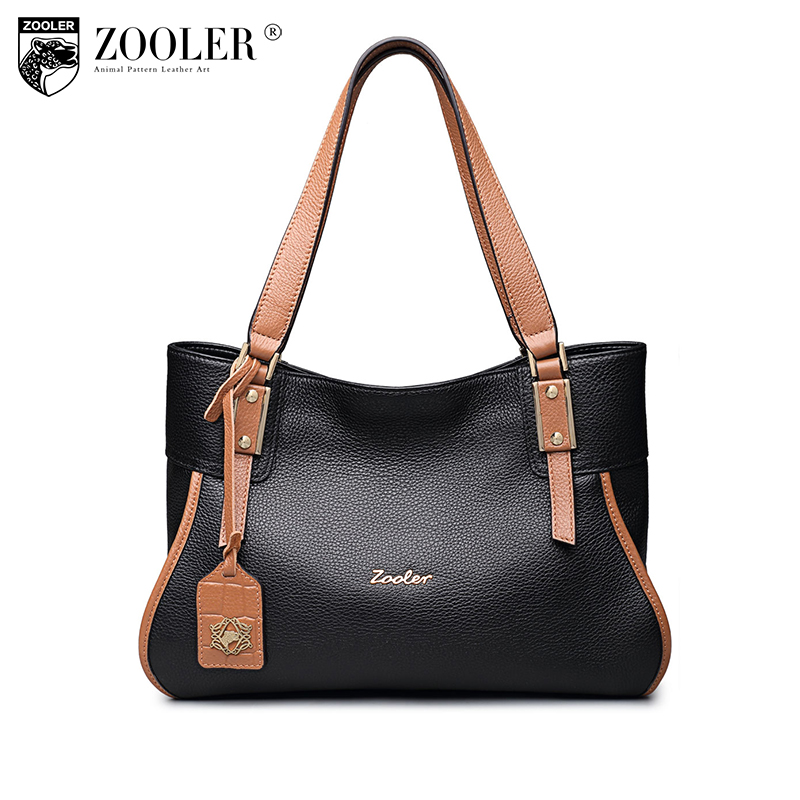ZOOLER fashion women leather bags luxury genuine leather bag designer 100% cowhide shoulder bag bolsa feminina#8123 luxury genuine leather bag fashion brand designer women handbag cowhide leather shoulder composite bag casual totes