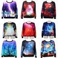 Raisevern das mulheres Da Forma/homens bonitos Hoodies impressão espaço galaxy sky 3d camisola tops casuais suor de alta qualidade por atacado