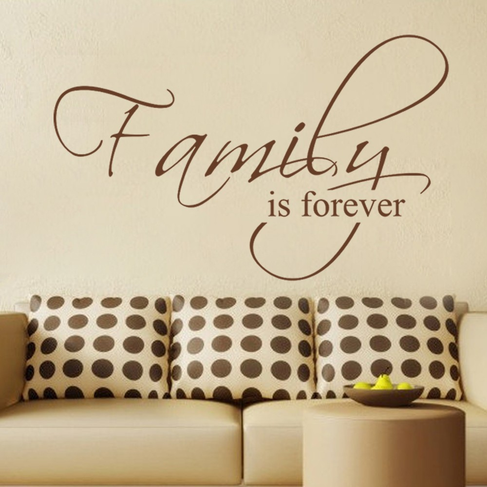 Family is Forever Bedroom decals Wall Decal Quote Vinyl Text Stickers Art Graphics 28  x 45  M-in Wall Stickers from Home u0026 Garden on Aliexpress.com ...  sc 1 st  AliExpress.com : family wall decal - www.pureclipart.com