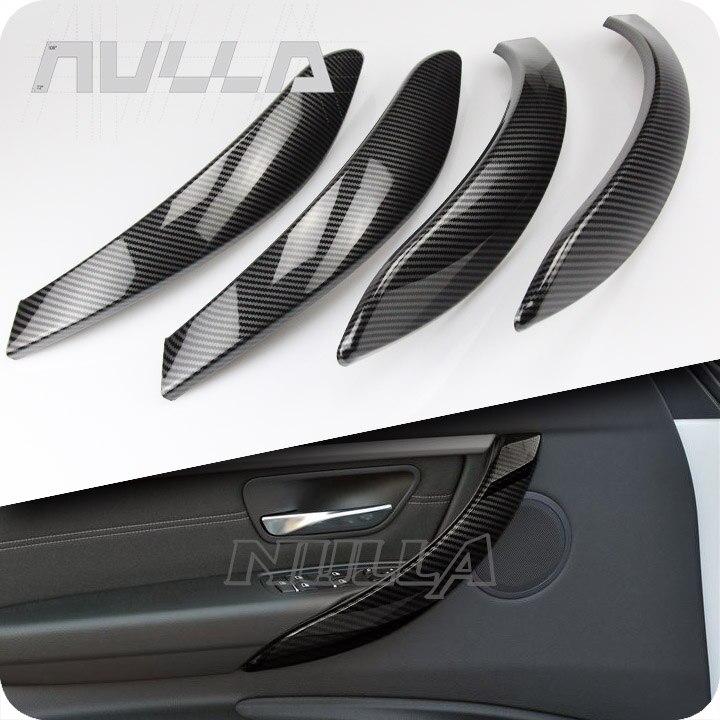 Cubierta de manija de puerta Interior de aspecto de carbono para BMW 3 Series F30 F31 2013-2017 GT F34 14- 17 y 4 Series 4 dr F36 15-17
