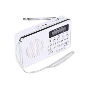 Image 4 - Новый T205 Портативный ЖК дисплей цифровой fm радио mp3 плеер мини музыкальный динамик Поддержка TF/SD карты USB AUX аудио вход 3,5 мм FS