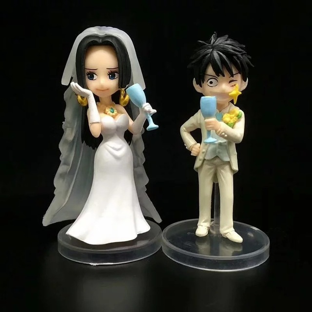 Аниме фигурки Луффи и Боа Хэнкок в свадебном платье Ван Пис 2
