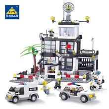 Kazi Educational Toys For Children Building Bricks Police Station Bricks Prison Van Building Blocks Sets Creative Handmade Toys