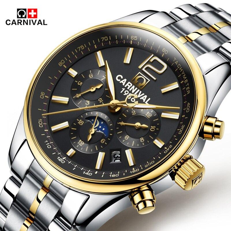2016 Luxury Carnival Brand font b Men s b font Watch Automatic font b Mechanical b