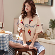 Plus Size 3XL 4XL Summer Pajamas Cotton Home Pants Women Sleepwear Thin Pyjama Women Pants Female Casual Lady Home Wear