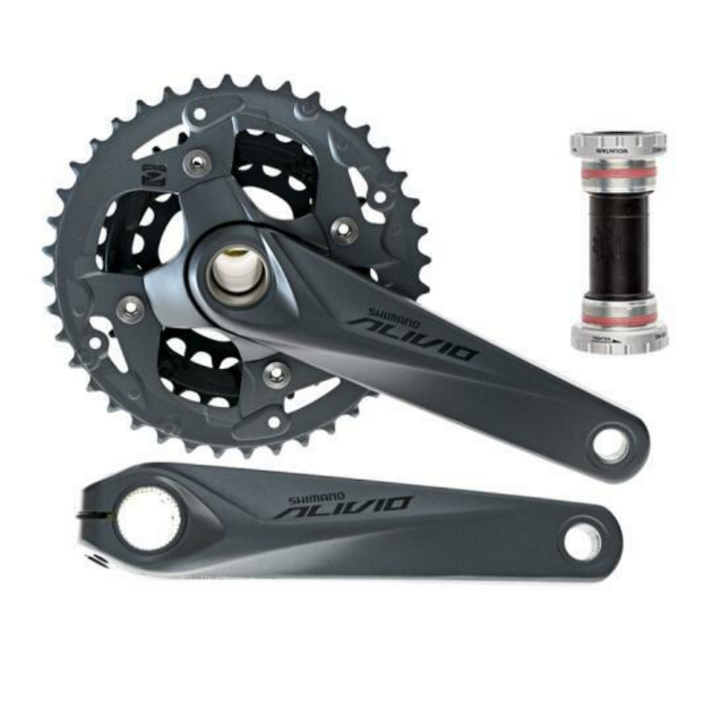 Shimano  Alivio FC-M4050 9 Speed Crank Crankset  BB52 For M4000 HollowTech Bicycle Parts 170/175mm