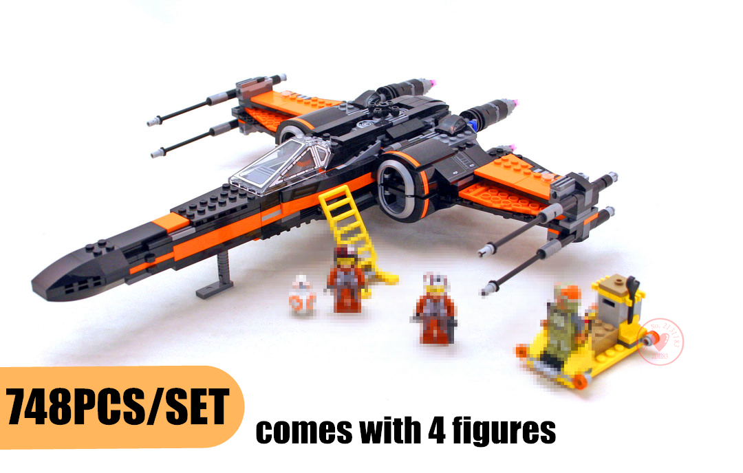 New Star War series The First Order X Wing Fighter fit legoings star wars figures technic Model Building Blocks bricks 75102 Toy держатель напитков в авто 1