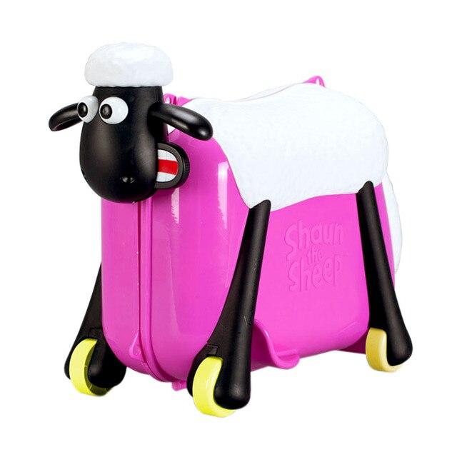 Творческий Путешествия шкафчик сумка мальчик в девочке детские Игрушки коробка багаж чемодан коробка тяга Может сидеть ездить флажок для детей Рождественский подарок