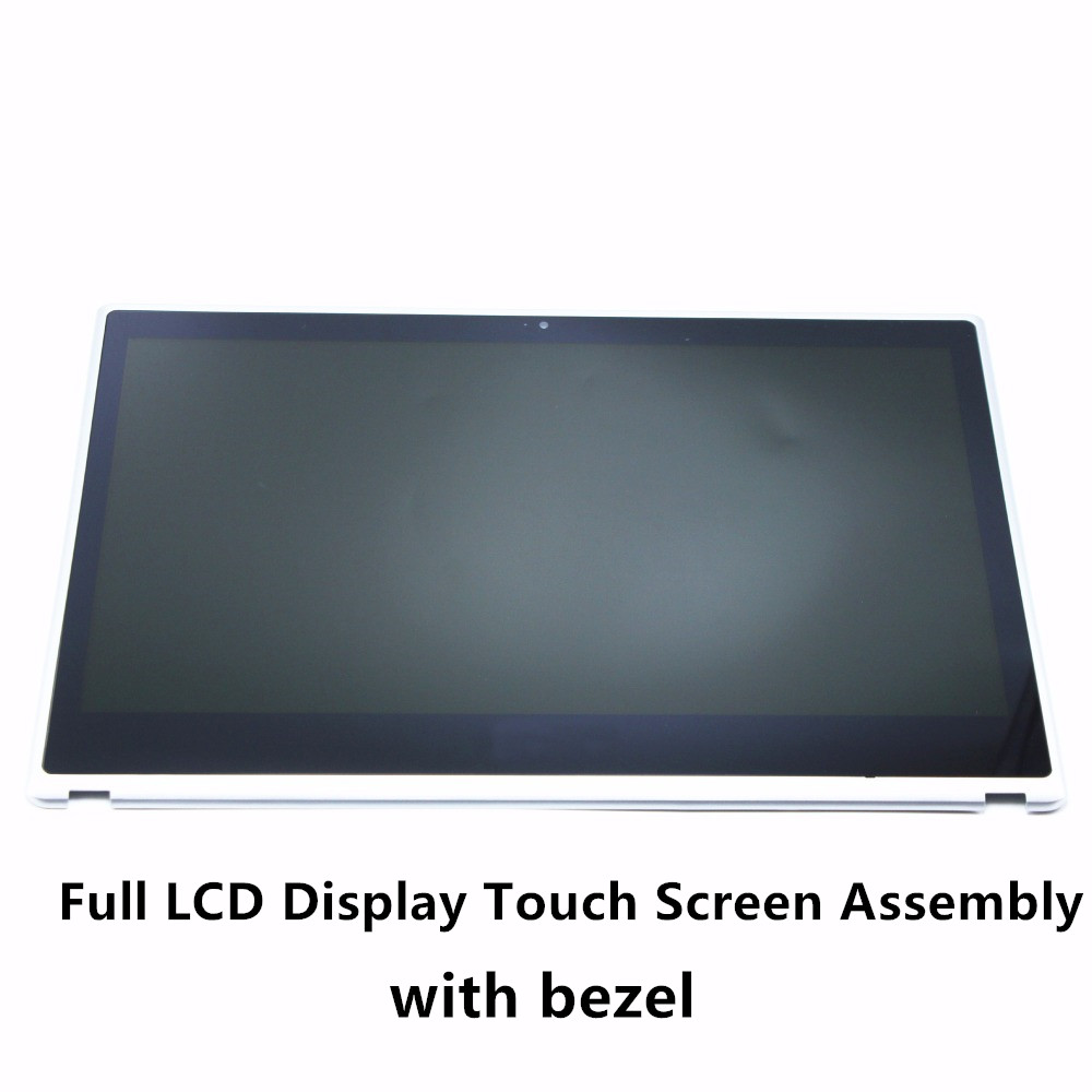 Laptop LCD Display Touch Screen Digitizer Assembly Panel+Bezel For Acer Aspire V5-431 V5-471 V5-471P V5-471PG Series B140XTN02.4 new 11 6 lcd screen display touch screen digitizer assembly for acer aspire switch 11 sw5 171 325n free shipping