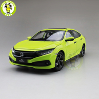 1/18 Honda CIVIC 10th generation 2019 Diecast Metal Car Model Toys For Kids Boy Girl Gift Collection Hobby Green