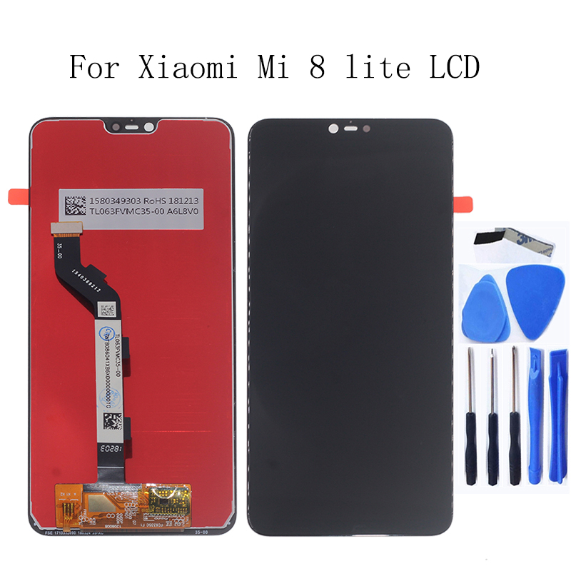 6.26 Inch For Xiaomi Mi 8 Lite Mi 8X LCD Display+ Touch screen digitizer assembly for Mi8 Lite LCD screen replacement Repair kit-in Mobile Phone LCD Screens from Cellphones & Telecommunications