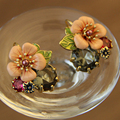 women pearl stud earrings flower fine jewelry accessories ear tunnel earring with stone female stud earrings new Christmas gift