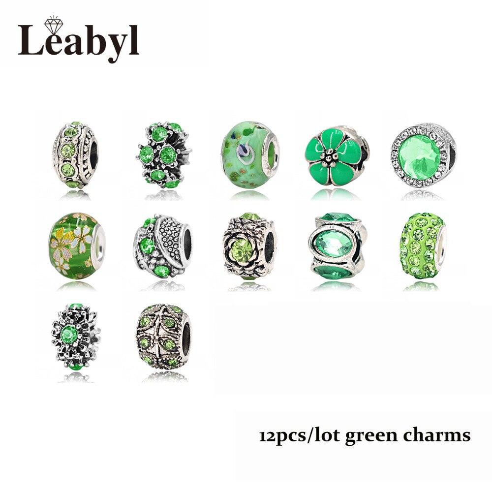 green pandora charms
