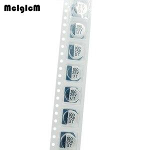 Image 2 - MCIGICM 1000 sztuk 100UF 25V 8mm * 6.5mm SMD aluminiowy kondensator elektrolityczny