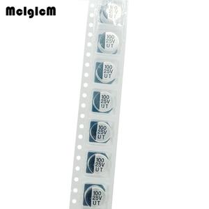 Image 2 - MCIGICM 1000pcs 100 미크로포맷 25V 8mm * 6.5mm SMD 알루미늄 전해 콘덴서