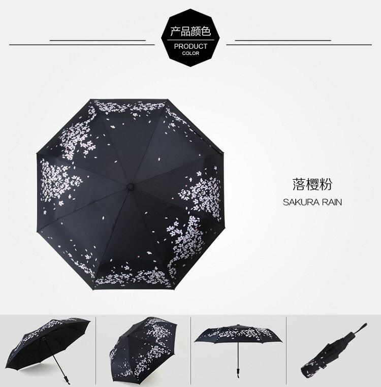67df9b663fde US $12.8 |100% Original Creative cherry blossom Folding Umbrell Ghibli  Parasol Wedding Umbrella Vinyl super repellent guarda Chuva-in Umbrellas  from ...