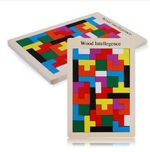 NEW Colorful Wooden Tangram Brain-Teaser Puzzle Tetris Game Educational Developmental Baby Toy for children gifts