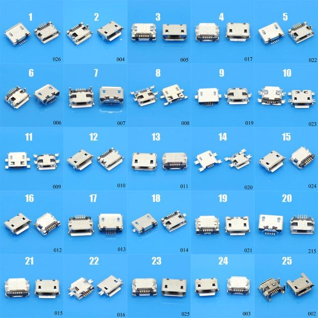 25 modeli 25-100 sztuk 5Pin Micro gniazdo usb Sockect złącze 5P kobieta dla Samsung Lenovo Huawei Lenovo Meizu Xiaomi Oppo Vivo