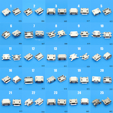 цена на 25Models,50pcs total Micro USB 5Pin jack tail sockect, Micro Usb Connector port sockect for samsung Lenovo Huawei ZTE HTC ect