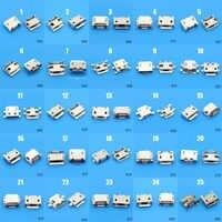 Conector Micro USB de 5 pines para Samsung, Lenovo, Huawei, Lenovo, Meizu, Xiaomi, Oppo Vivo, 25 modelos, 25-100 Uds.