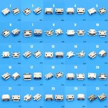 Conector Micro USB de 5 pines para Samsung, Lenovo, Huawei, Lenovo, Meizu, Xiaomi, Oppo Vivo, 25 modelos, 25-100 unidades