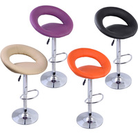 Free Shipping Factory Direct Sale Commercial Modern Bar Stools Rotates 360 Degrees PU Leather Chairs Office