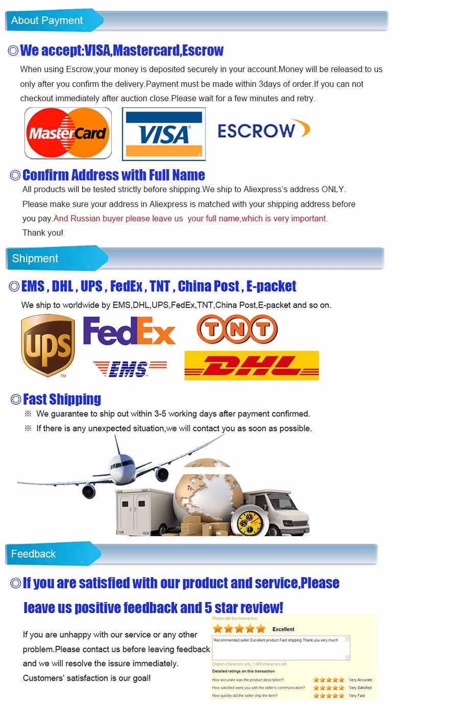 payment shippment OK