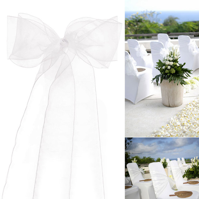 Diy Organza Chair Covers Office Waiting Room Chairs Cheap Wedding Sash Bow For Cover Banquet Party Birthday Decor Sashes