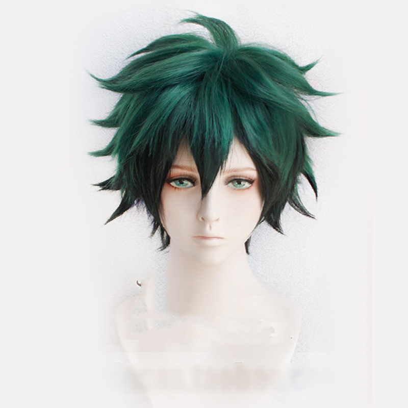 Anime My Hero Academia Cosplay Wig Izuku Midoriya Wig Boku No Hero Academia/Academy Cosplay Hair Izuku Midoriya Deku Wig Hairnet
