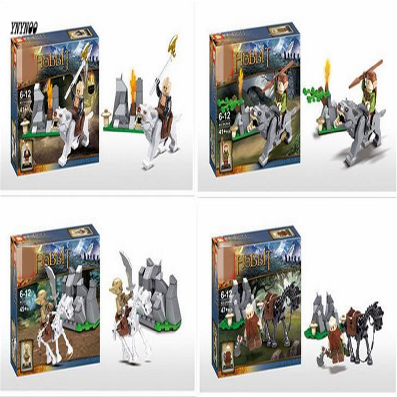 YNYNOO SY206 Building Blocks The Lord of the Rings Hobbits Model Bricks sets Action Figures Toys Compatible with Lepin 1 6 scale full set soldier the lord of the rings elven prince legolas action figure toys model for collections