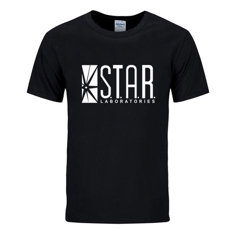 STAR labs new fashion   T     shirt   men summer tops tees jumper the flash gotham city comic books superman tv series men's   T  -  shirt