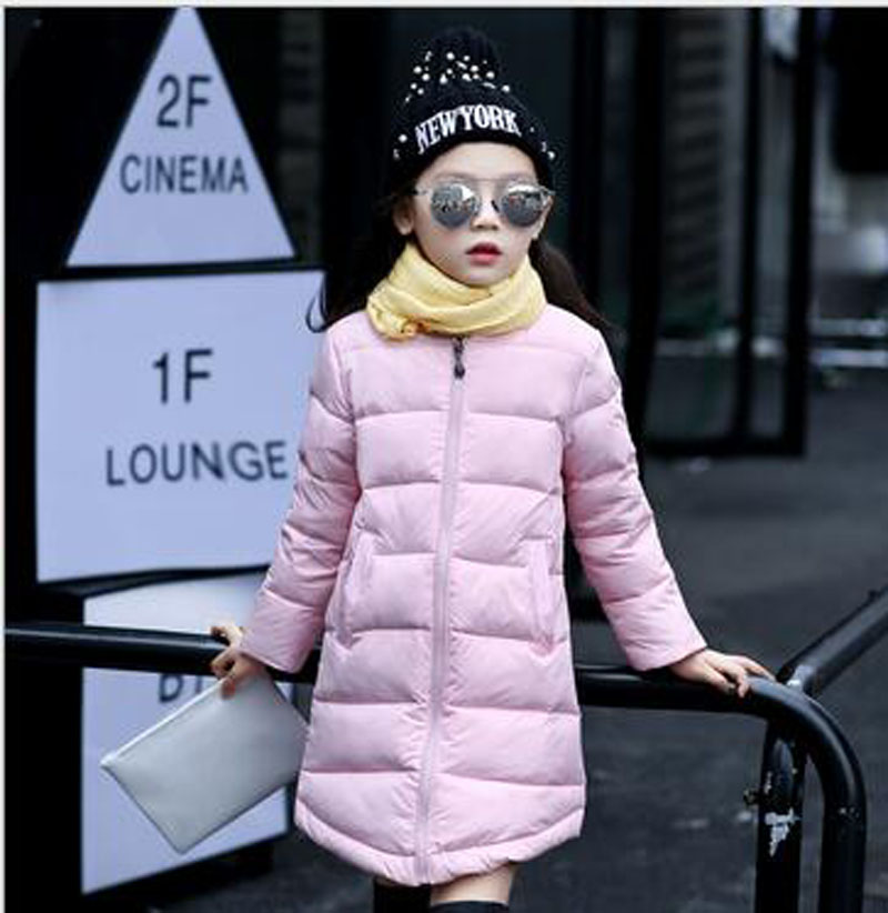 (2-12years)2016 fall and winter children wear long warm new Slim thick coat jacket old girl