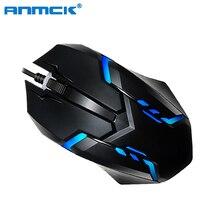 Anmck USB Проводная игровая мышь для компьютера Эргономичный мини оптический геймер мыши профессиональная портативная игровая мышь для ноутбука