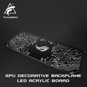 Image 2 - FormulaMod Fm DB, Gpu Decorative Backplate, With 5v 3pin Lighting LED Acrylic Backplane, Can Sync To Motherboard