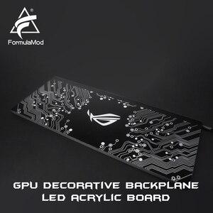 Image 2 - Formulamod fm db、gpu装飾バックプレート、5v 3pinと照明ledアクリルバックプレーン、マザーボードに同期することができ