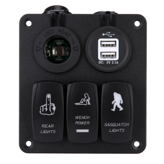 Aliexpress.com : Buy 1 pcs Car Panel Combination Type Switch With ...