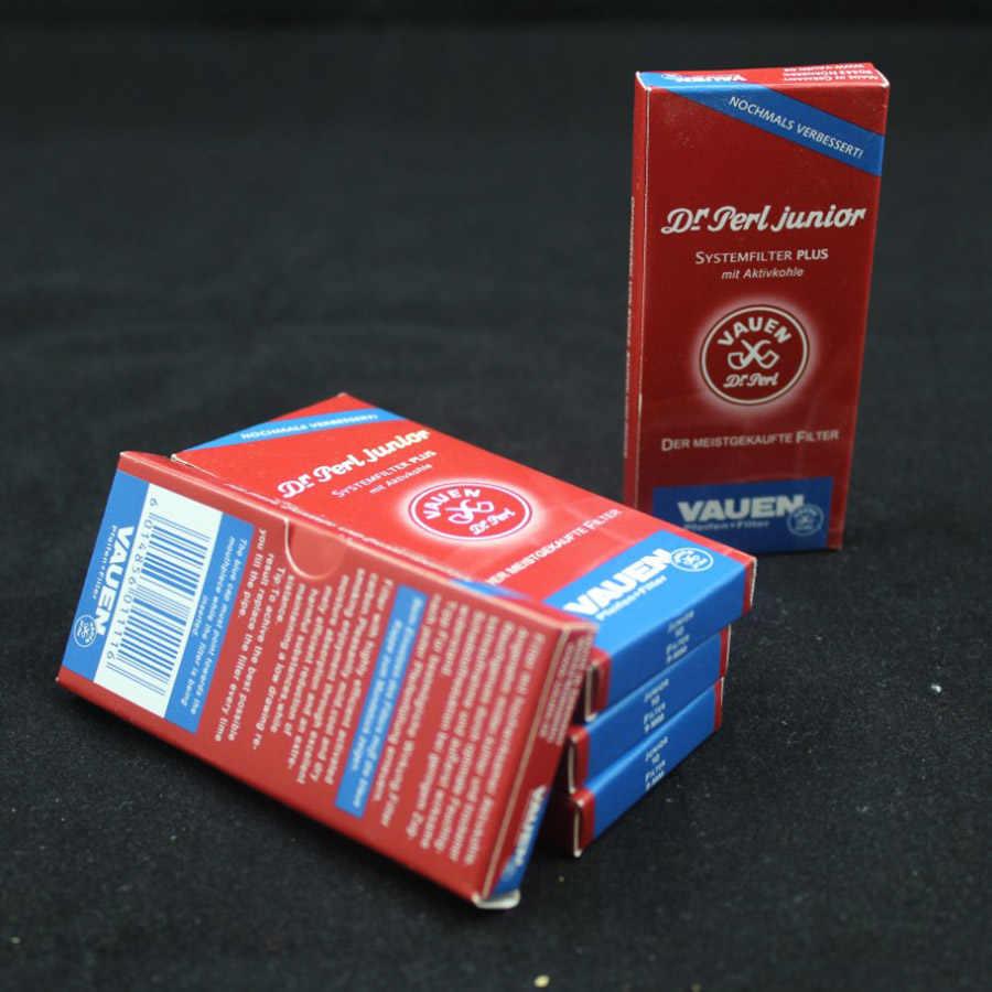Оптовая продажа 50 шт. Vauen 9 мм курительная труба фильтры лучшие одноразовые, с активированным углем курительный Фильтр Инструменты Аксессуары 50Xf1