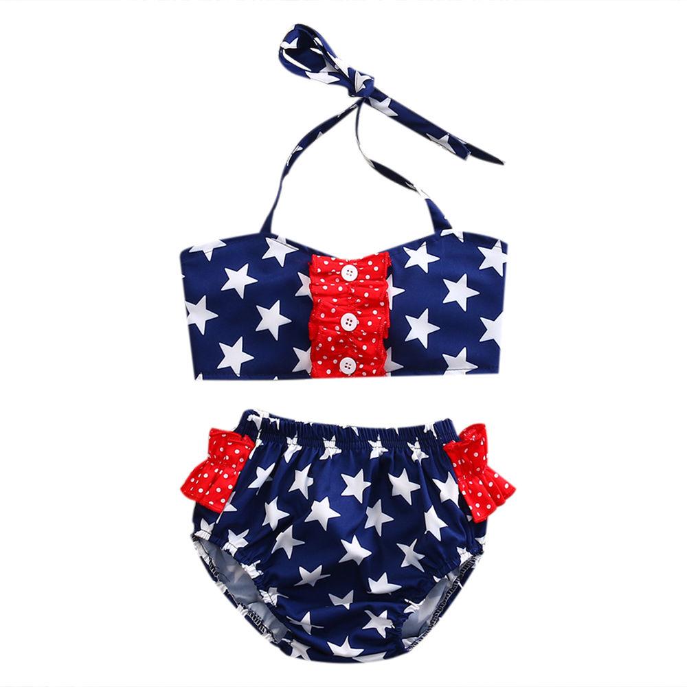 Black Friday Deals Toddler Baby Girls Kids 2018 New Summer Star Swimsuit Bathing Bikini Set Swimwear Swimsuit Beachwear