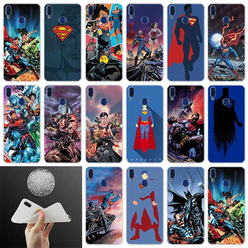 Cover Phone Case DC Justice League Comics Superman For Huawei Honor 10i 9i Lite 8a 8x max 8c 7x 7a pro 6x V20 Paly Soft